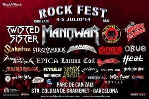 Cartel Rock Fest Barcelona